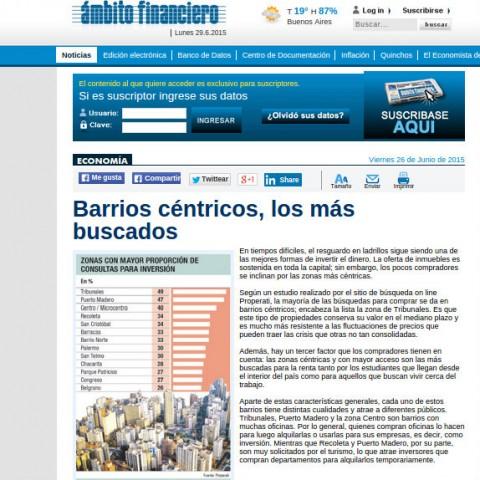 26/6/2015 - Ámbito Financiero