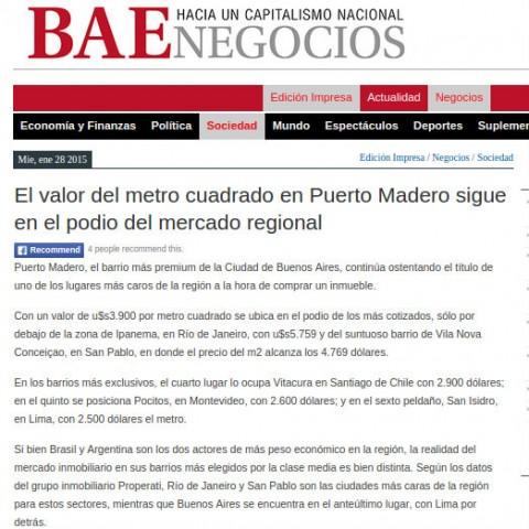 28/1/2015 - Diario BAE