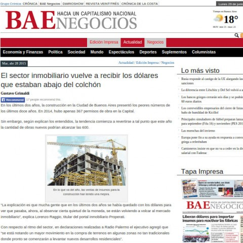 28/4/2015 - Diario BAE