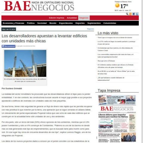 15/4/2014 - Diario BAE
