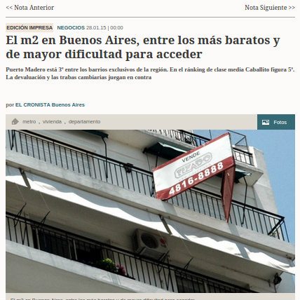 28/1/2015 - El Cronista