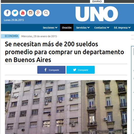28/1/2015 - Diario Uno