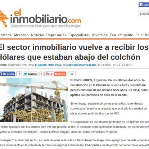 29/4/2015 - El Inmobiliario
