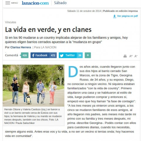 11/10/2014 - La Nación
