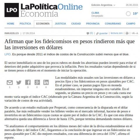 18/9/2014 - La Política Online