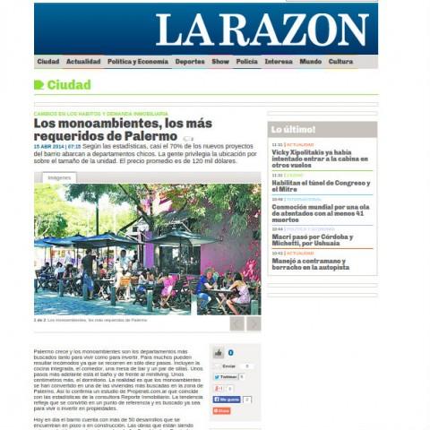 15/4/2014 - La Razón