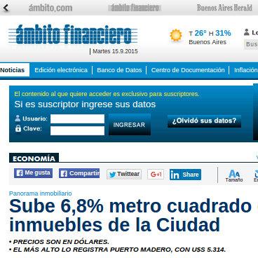 Ambito Financiero - 7/8/2015