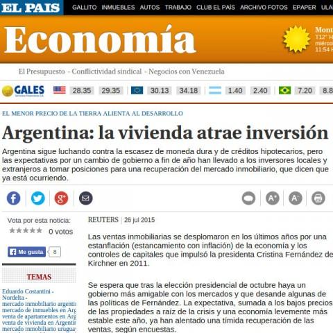 El País (Uruguay) - 26/7/2015