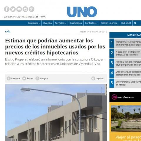 15/04/2016 - Diario Uno