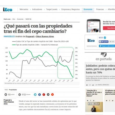 13/01/2016 - iEco (Clarín)