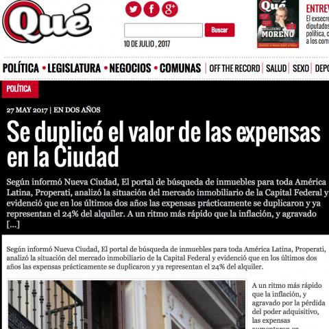 27/05/2017 - Revista Qué