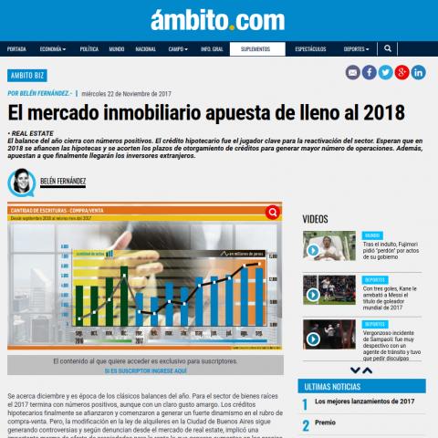 22/11/2017 - Ámbito Financiero
