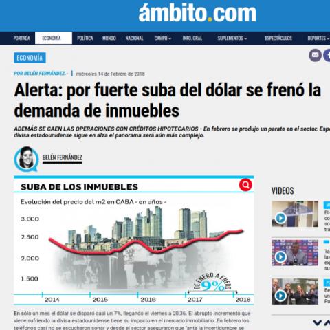 14/02/2018 - Ámbito Financiero