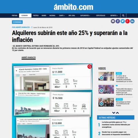 26/03/2018 - Ámbito Financiero